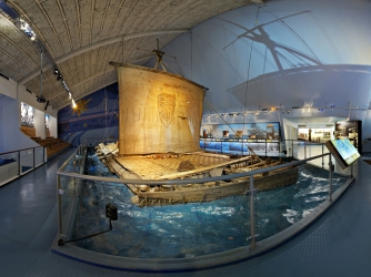 Kon-Tiki on display in Oslo, Norway. (Credit: Getty Images)