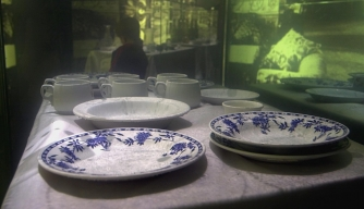 China recovered from the wreck of Titanic.