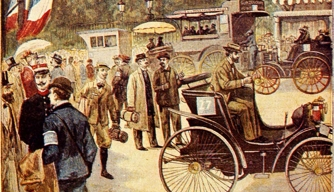 "August 6, 1894 cover of Le Petit Journal dedicated to the ""Competition for Horseless Carriages"""