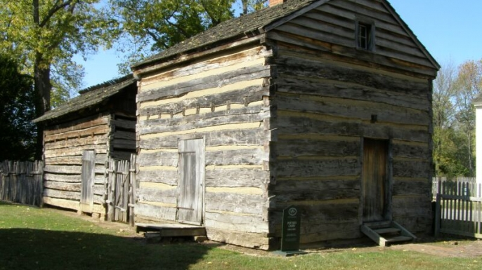 New Harmony Indiana Potter Cabin
