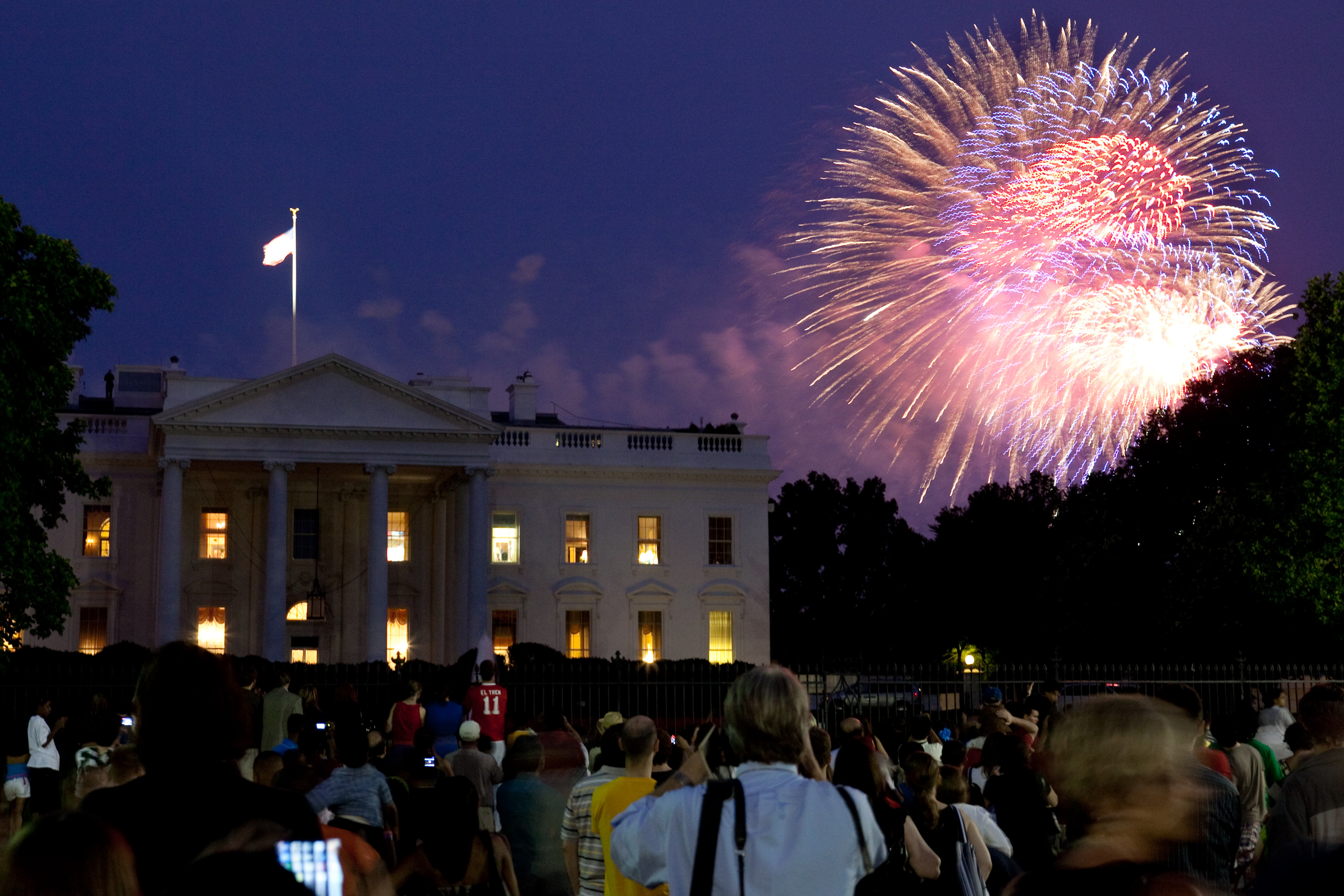 Fireworks Explode Over The White House On July 4, 2009