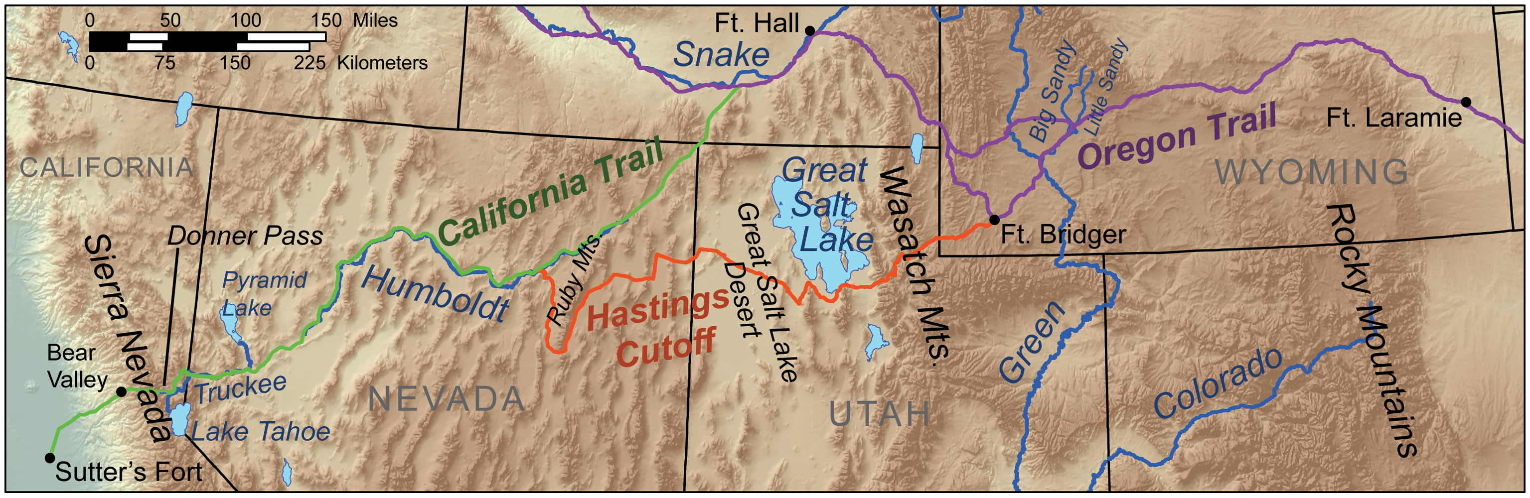 Things You Should Know About The Donner Party History In The - Detailed map of us during westward expansion