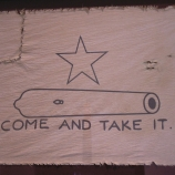 "Reproduction of the ""Come and Take It"" flag."