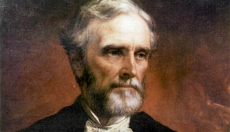 A postwar portrait of Jefferson Davis.
