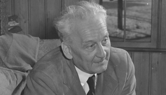 Nobel laureate, vitamin C pioneer and political activist Albert Szent-Györgyi in the late 1940s.