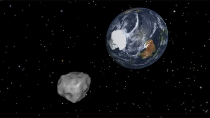 Asteroid D14 illustration.