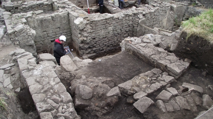 Excavations at the Binchester site