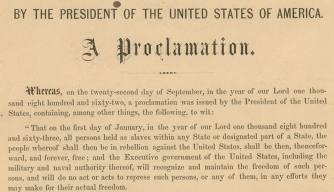 Emancipation Proclamation Copy Signed by Lincoln for Sale
