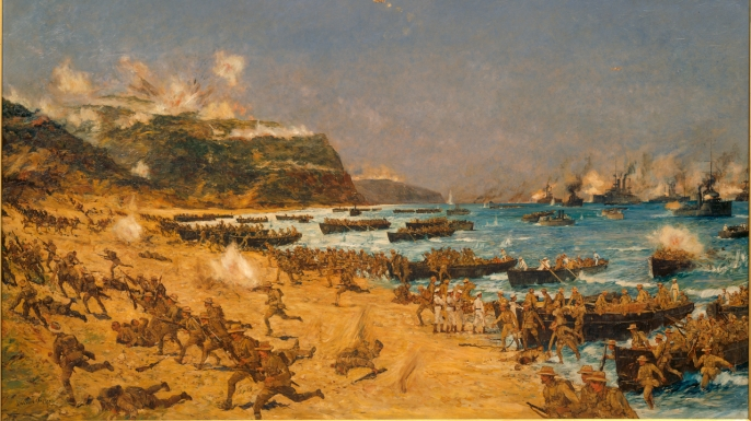 """The Landing at Anzac."""