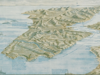 Graphic map of the Dardenelles.