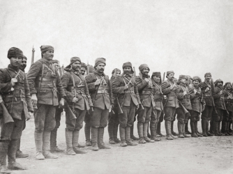 Turkish troops on parade, 1915. (Credit: FPG/Hulton Archives/Getty Images)