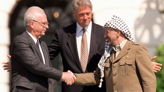 Yitzhak Rabin and Yasser Arafat