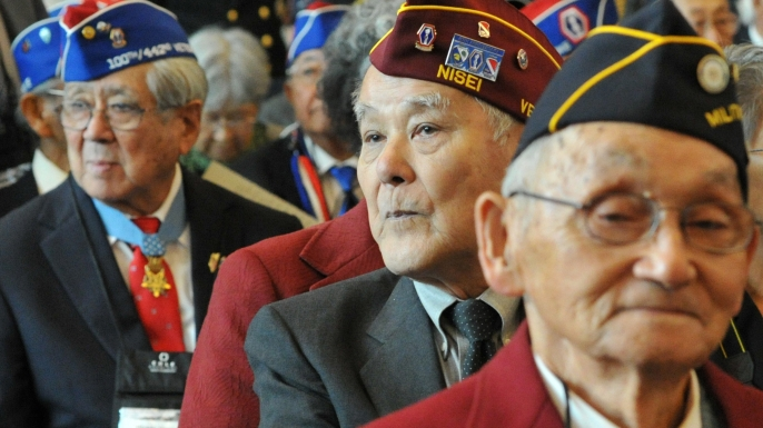 Japanese-American veterans attend ceremonies on Capitol Hill November 2, 2011.