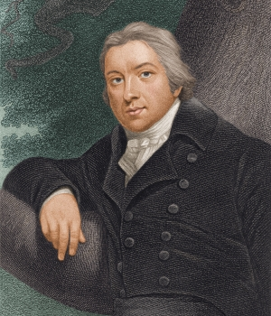 Portrait of English physician and paleontologist Edward Jenner, who developed the first smallpox vaccine. (Credit: Stock Montage/Getty Images)