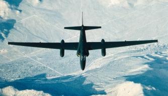 A U-2 reconnaissance plane in flight.