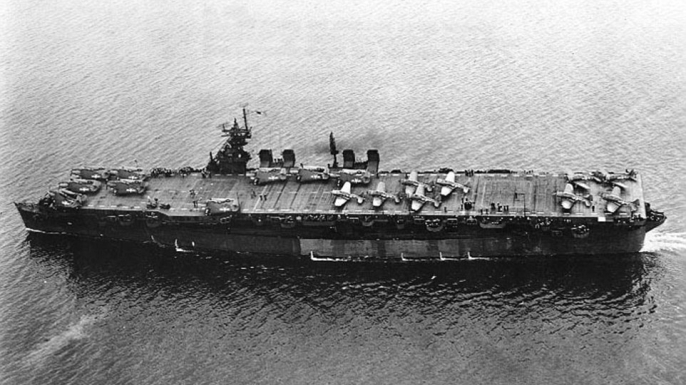 USS Independence in 1943.