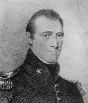 Sketch of William Travis by Wyly Martin.