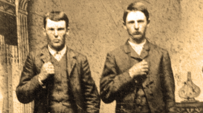 Jesse and Frank James, c. 1872.