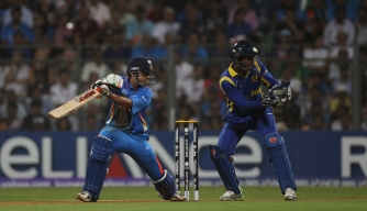 India and Sri Lanka compete during the 2011 Cricket World Cup.