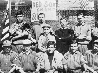 Ruth (top row, center) with the St. Mary's baseball team