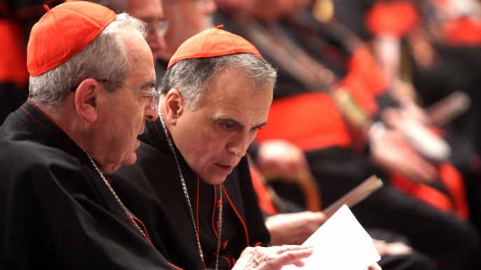 Cardinals in Rome for the papal conclave attend a prayer meeting at St. Peter's Basilica on March 6.