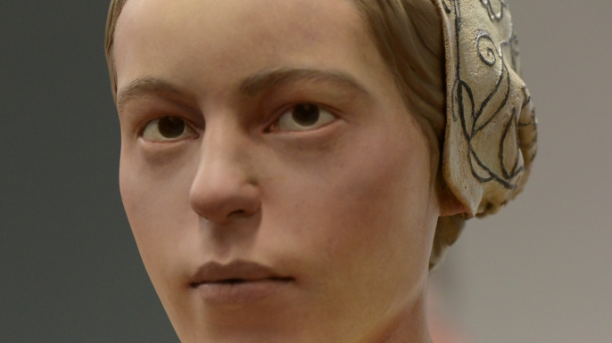 "Facial reconstruction of the girl, known as ""Jane"", jamestown colony"
