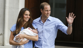 The Duke and Duchess of Cambridge with their newborn son, July 23, 2013.