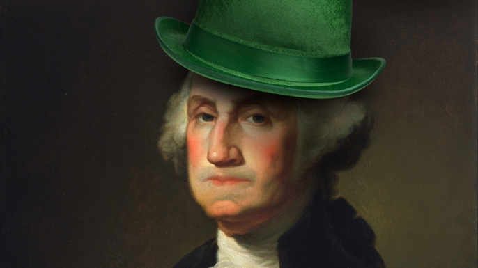 george washington, st patrick's day
