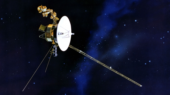 NASA artist's rendering of Voyager 1 entering interstellar space.
