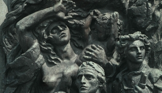 The Warsaw Ghetto Heroes Monument in Warsaw, Poland.