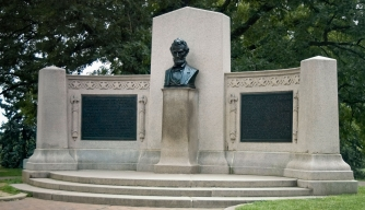 The Lincoln Address Memorial at Gettysburg National Cemetery.