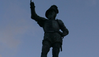 Statue of Juan Ponce de León in Old San Juan.