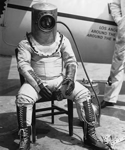 Wiley Post in an early pressurized suit.
