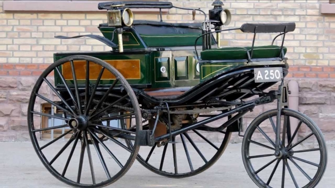 Replica Benz Patent-Motorwagen No. 3, similar to the one Bertha Benz drove in August 1888.