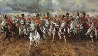 Depiction of the Charge of the Light Brigade, one of history's most famous cavalry charges.