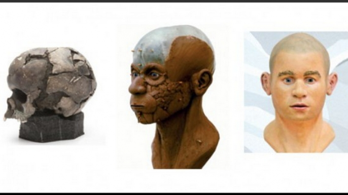 A digital reproduction was converted into a plastic and clay bust, which yielded a final model made out of plastic resin and fiberglass.