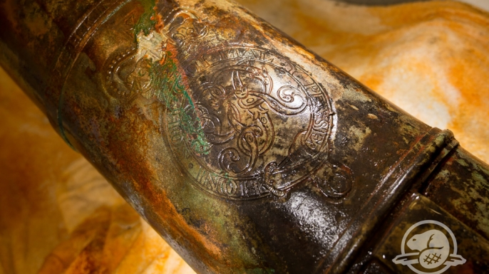 Close-up of cannon recovered from HMS Erebus.