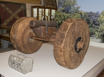"""Come and Take It"" cannon at the Gonzales Memorial Museum in Texas."