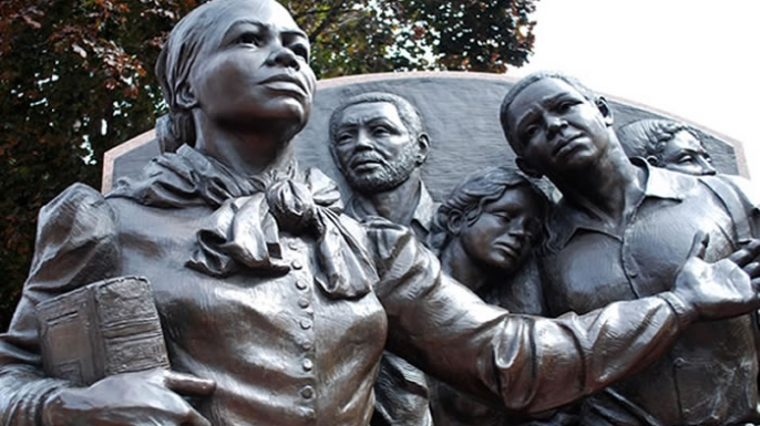 Memorial to Harriet Tubman in Boston, Massachusetts.