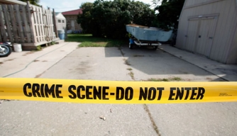 Acting on a tip, police drilled under a driveway in Roseville, Michigan, for the remains of Jimmy Hoffa.
