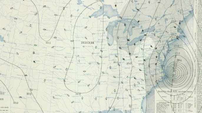 September 21, 1938 weather map.