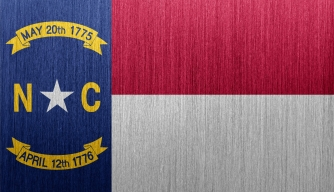 North Carolina state flag, featuring the May 20, 1775 date of the supposed signing of the Mecklenburg Declaration.