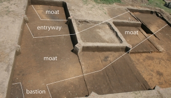 Layout of Fort San Juan excavation site.