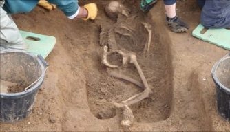 Girl Possibly Murdered During Roman Invasion Found in England