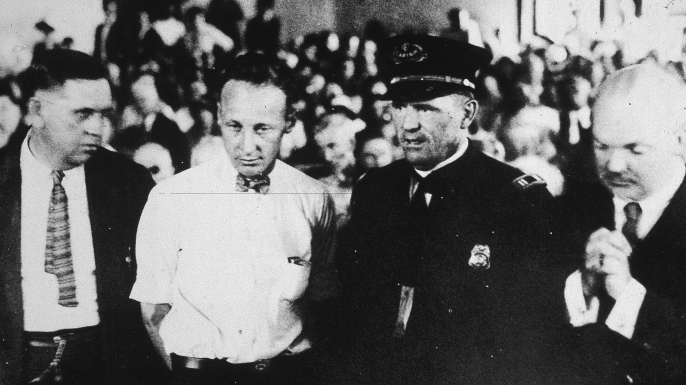 John Scopes in the courtroom during his 1925 trial.