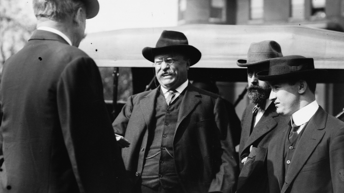 Theodore Roosevelt shortly before John Schrank made an attempt on his life.
