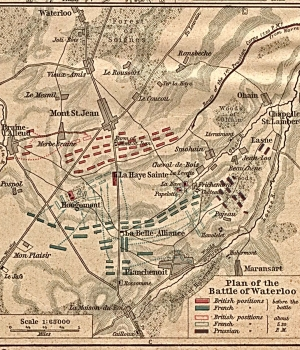 Plans of the Battle of Waterloo.