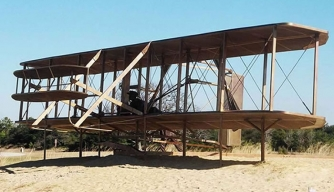 Replica of 1903 Wright Brothers Flyer, Kitty Hawk, North Carolina.