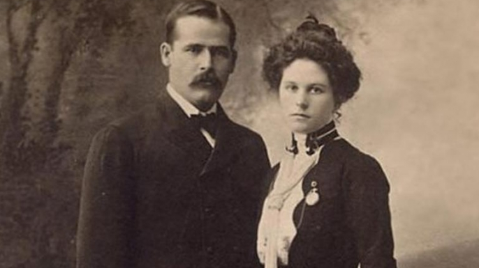 The Sundance Kid and Etta Place, shortly before the pair left for South America.