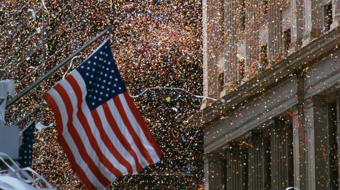 The ticker-tape parade celebrating the end of Operation Desert Storm. (Credit: Visions of America/UIG via Getty Images)